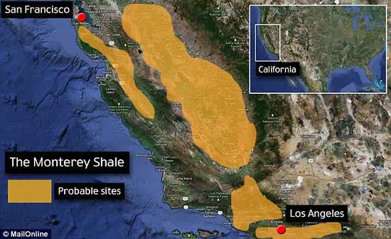 Monterey shale formation