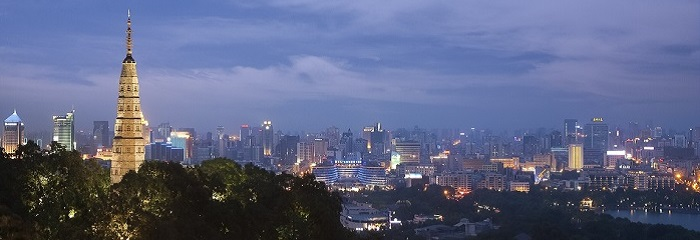 Hangzhou at night