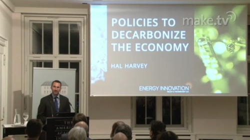 Permalink to Hal Harvey: Policies to Decarbonize the Economy