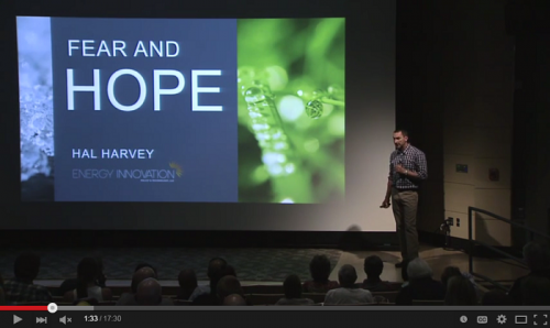 Permalink to Hal Harvey Presents Fear & Hope: Climate Change and Policy Solutions