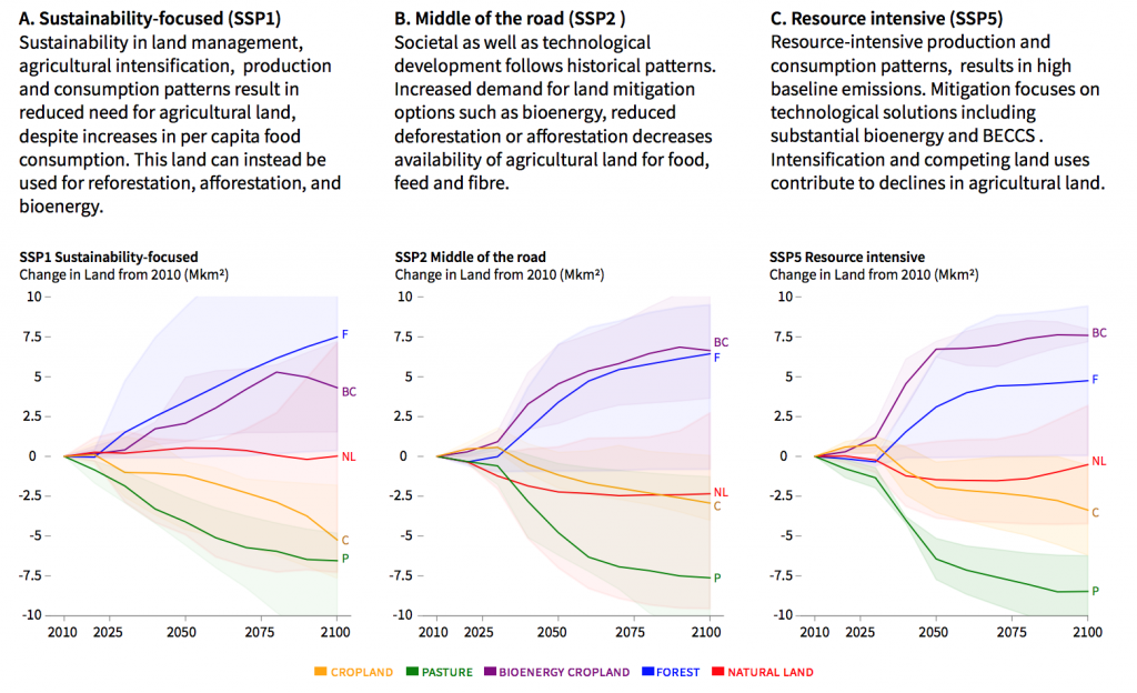 IPCC Special Report on Land Shared Socioeconomic Pathways